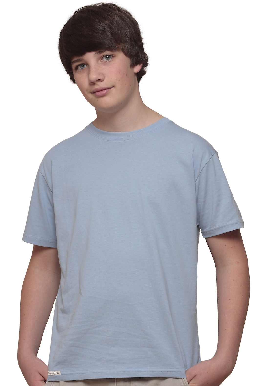 Palomar Youth S/S OrganicTee- Sky Blue