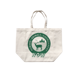 """Humans Animals Environment Now"" Printed Deli Tote: Small Size"