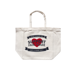 """Support Fair Trade"" Printed Deli Tote: Small Size"